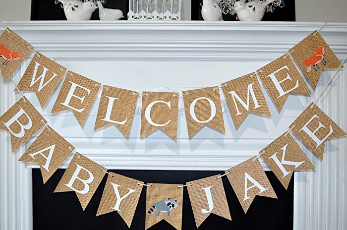 Amazon Com Woodland Baby Shower Decorations Woodland Baby Banner
