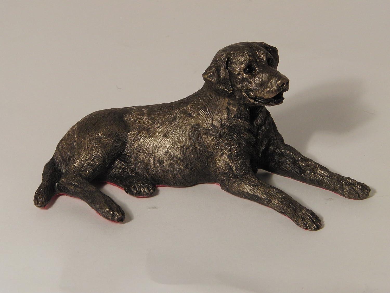 Edward' Labrador Lying Bronze Sculpture by Paul Jenkins - Frith
