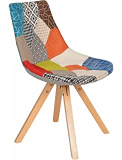 ts-ideen 1 x Design Patchwork Sessel Wohnzimmer Büro Stuhl Esszimmer ...