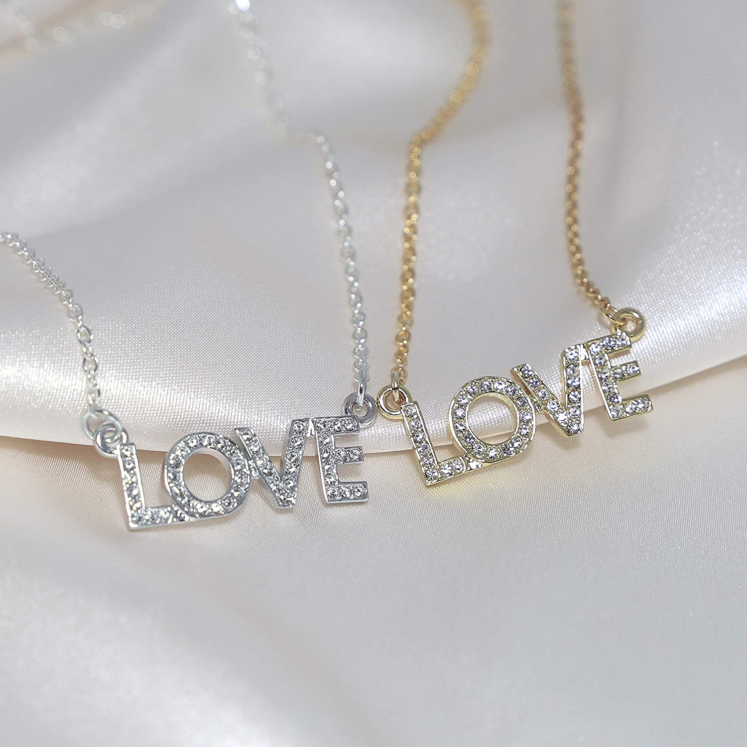 Erica Anenberg 22K Gold CZ Love Necklace for Girlfriend