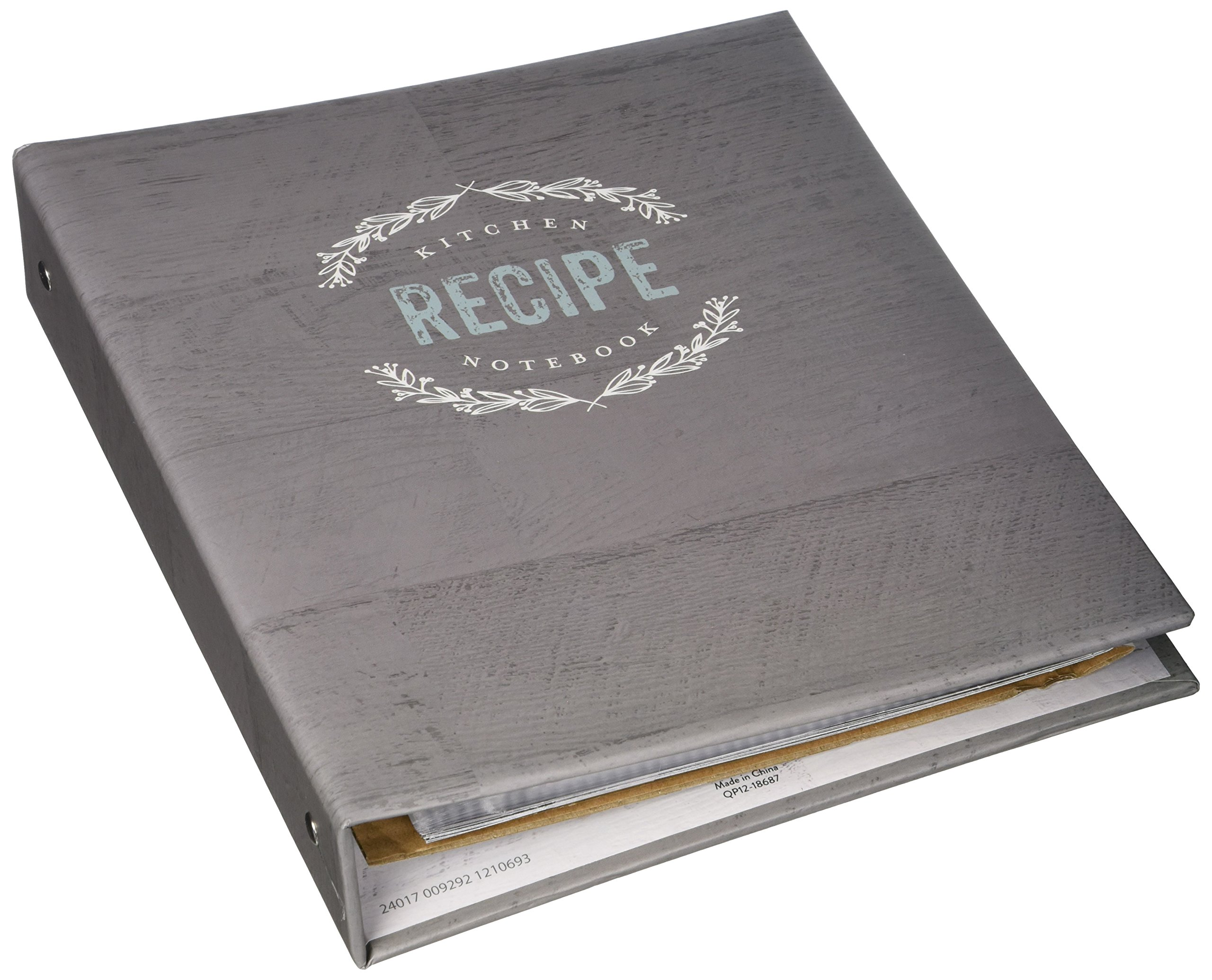 C.R. Gibson QP12-18687 Recipe Binder and Cards, Farmhouse