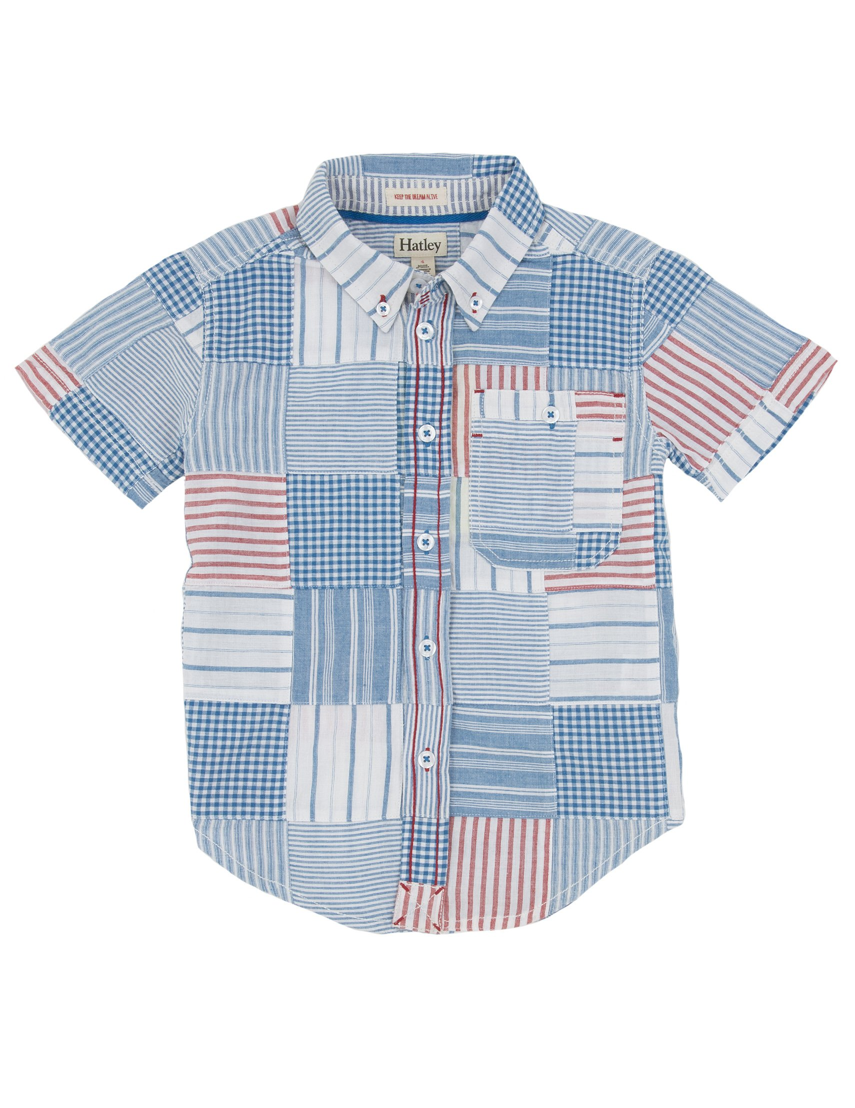 Hatley Little Boys' Boys Button Down Shirt Madras, Multi, 4T by Hatley