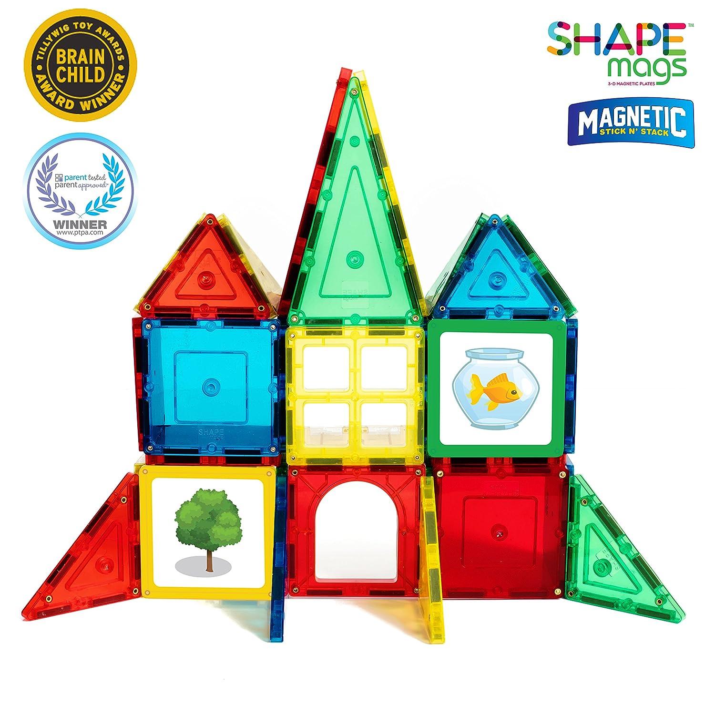 Amazon Award Winning Magnetic Stick N Stack 40 Piece Junior