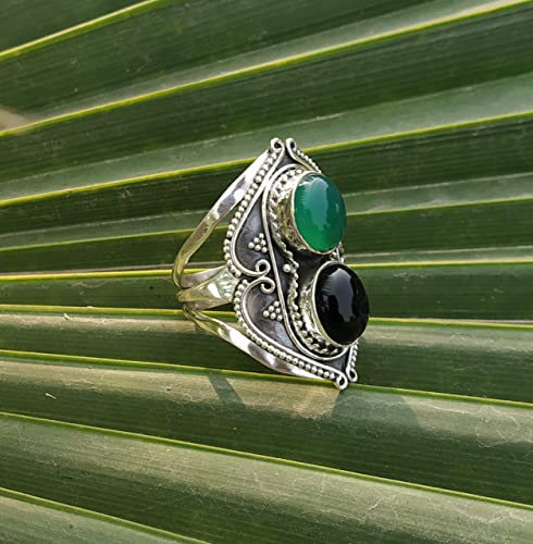 Promise Ring Labtadorite Ring Gift For Her Gemstone Ring 925 Sterling Silver Ring Black Stone Ring Statement Ring