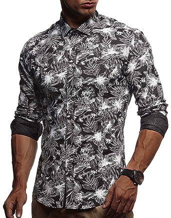 new styles 270c7 35732 LEIF NELSON Herren weißes Hemd Slim Fit Langarm | Schwarzes Männer Stretch  Kurzarmhemd Freizeithemd | Jungen Langarmshirt Langarmhemd Business ...