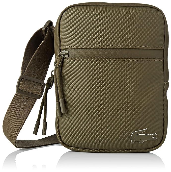 Lacoste - Nh2715po, Shoppers y bolsos de hombro Hombre, Verde (Military Olive), 2.5x20.5x15.5 cm (W x H L): Amazon.es: Zapatos y complementos