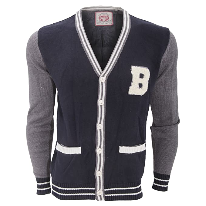 Men's Vintage Style Sweaters – 1920s to 1960s  Morpheus Knitted Varsity Cardigan $21.45 AT vintagedancer.com