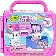 CRAYOLA 74-7304 Scribble Scrubbie, Portable Beauty Salon Pet Play Set, Perfect Gift for Kids, Includes 2 Pet Figurines; Colour & Clean Adorable Little Pets!