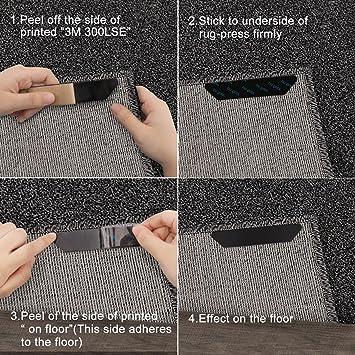Amazon.de: Antirutschmatte Für Teppich, 12 Stück Anti Rutsch  Teppichunterlage Teppich Ecke