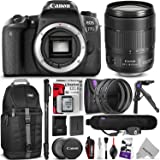 Canon EOS 77D DSLR Camera with 18-135mm USM Lens w/ Advanced Photo and Travel Bundle