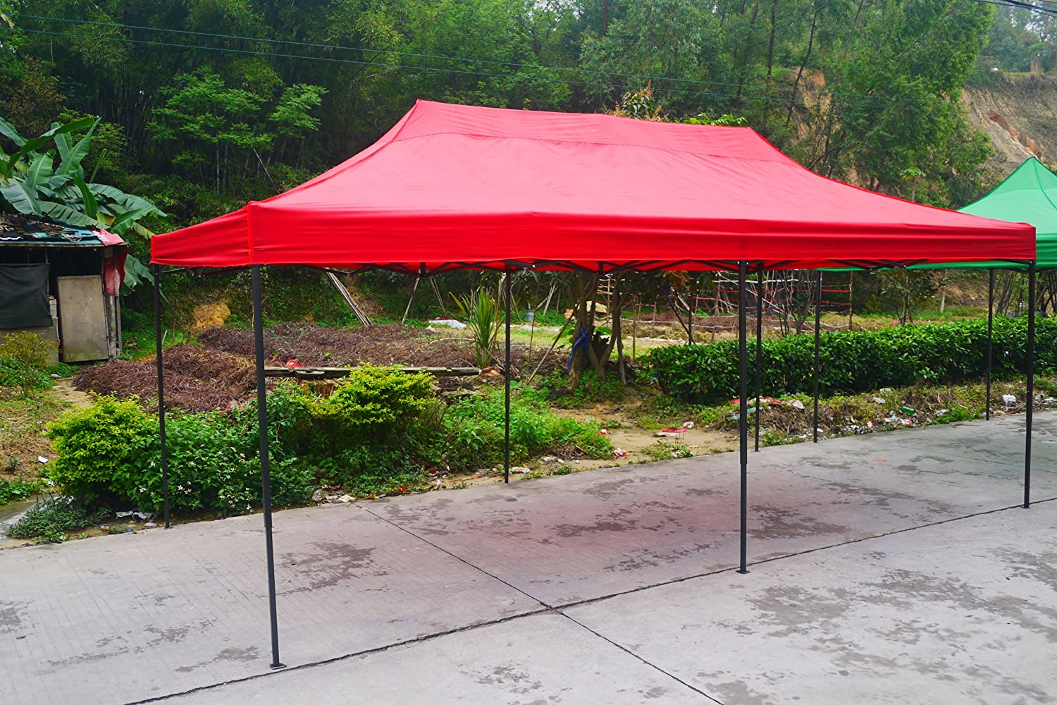 Amazon.com  American Phoenix Canopy Tent 10x20 foot Red Party Tent Gazebo Canopy Commercial Fair Shelter Car Shelter Wedding Party Easy Pop Up - Red ... & Amazon.com : American Phoenix Canopy Tent 10x20 foot Red Party ...