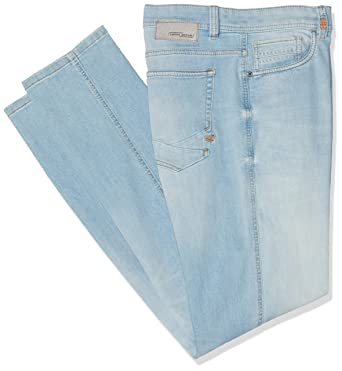 57d75da698 camel active 488265, mens Tapered Tapered Fit Jeans, Blue (Lime Blue Bleach  87