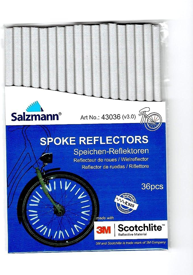 72Pcs Bicycle Wheel Spoke Reflector Bike Night Cycling Safety Warning Strip HLD