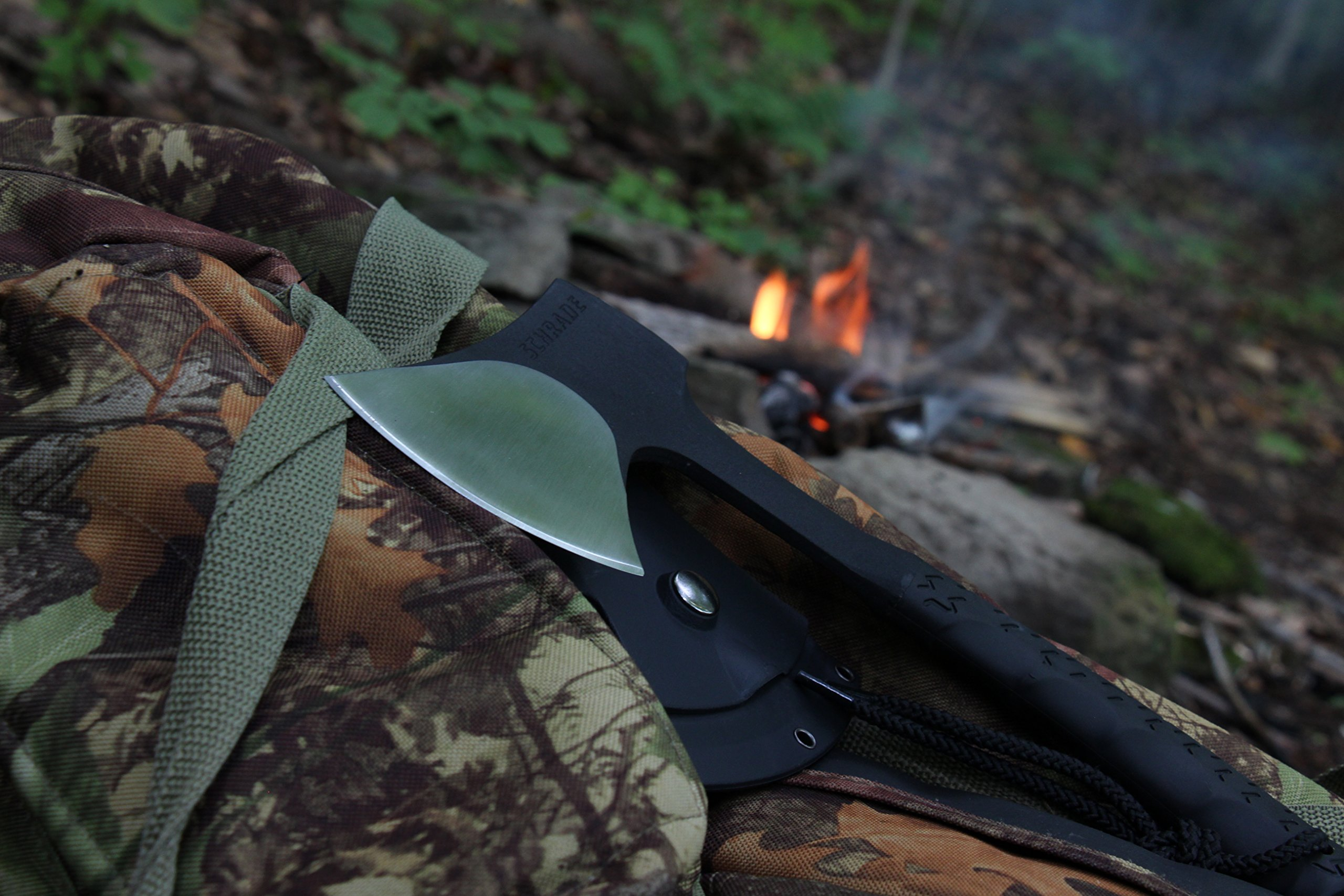 Schrade SCAXE10 11.1in Full Tang Hatchet with 3.6in Stainless Steel Blade and TPR Handle for Outdoor Survival Camping and Everyday Carry by Schrade (Image #2)