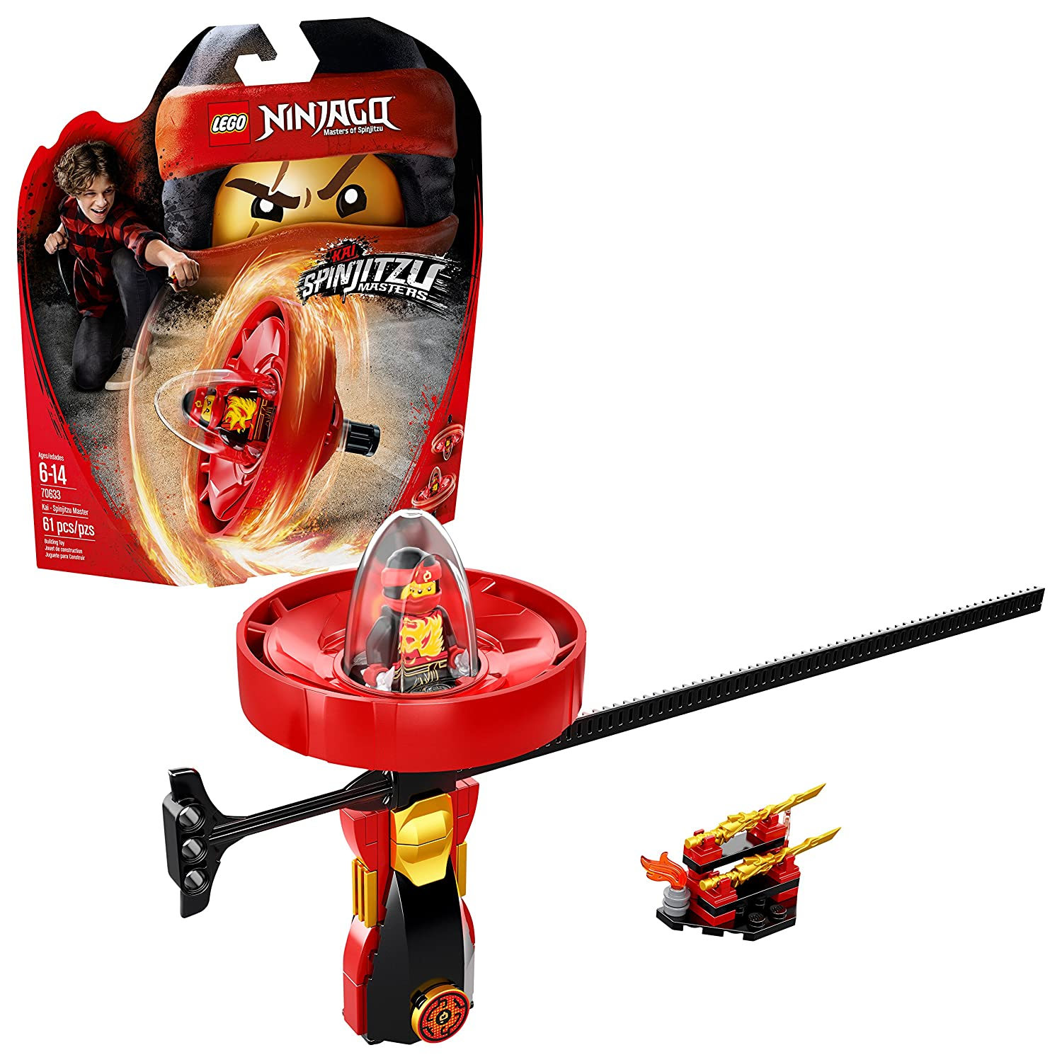 LEGO Ninjago Kai - Spinjitzu Master 70633 (61 Piece): Amazon ...