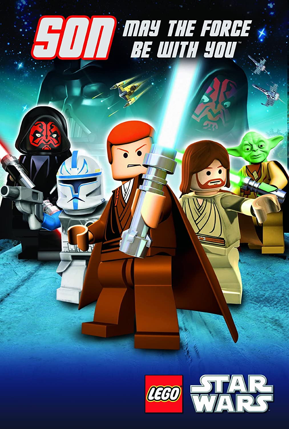 Lego Star Wars Son Greeting Card Amazoncouk Office Products – Lego Star Wars Birthday Cards