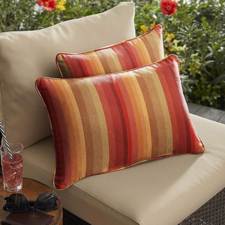 Mozaic Company AMZ206111SP Sunbrella Astoria Sunset Outdoor Pillow Set