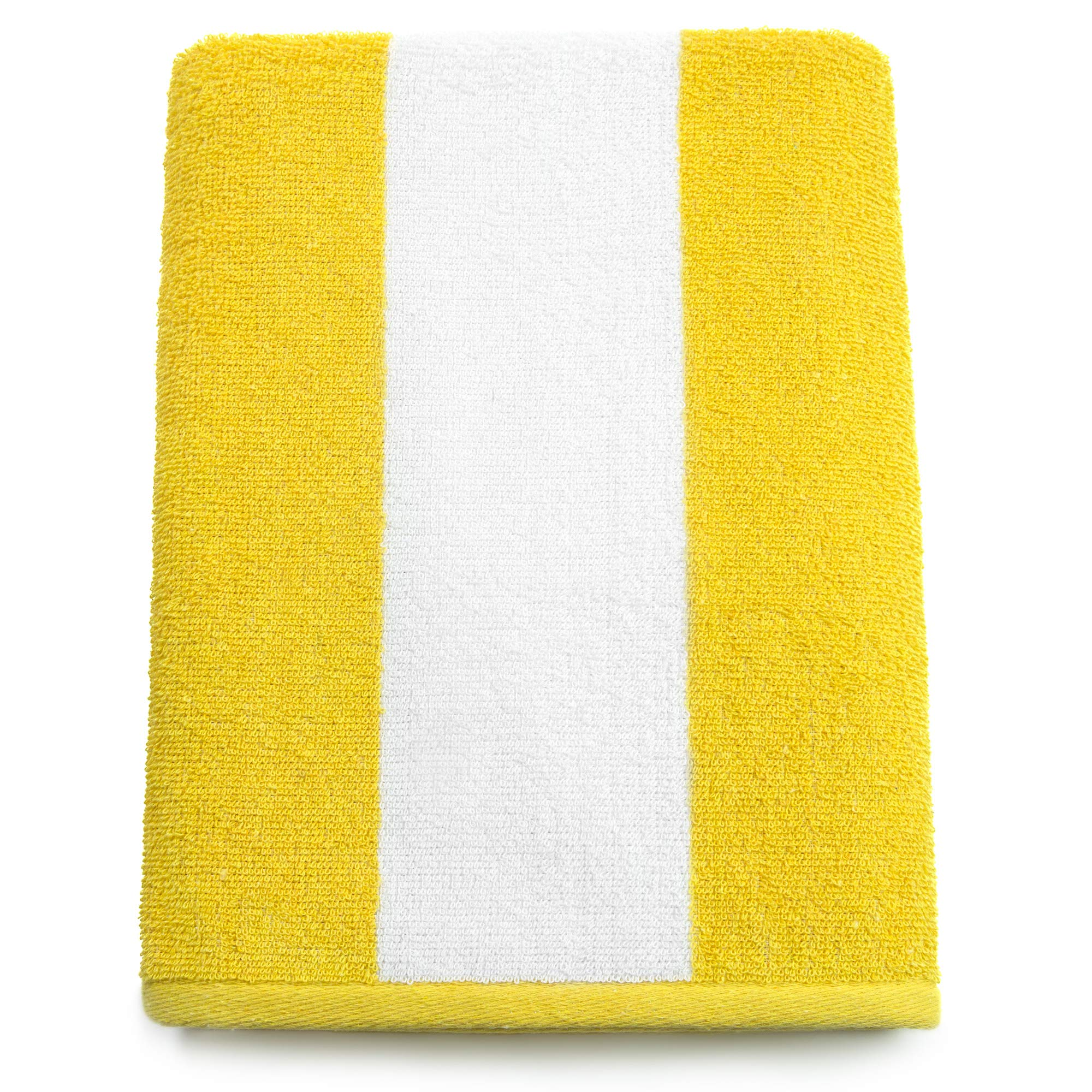 Cabana Beach and Pool Towel 6 Pack - 30in x 60in Soft and Absorbent Terry Loop (Royal, Turquoise, Green, Yellow, Orange, Pink) by Softerry (Image #9)