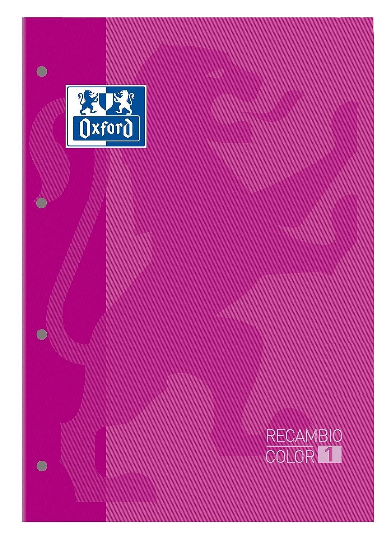 Oxford 100108305 - Recambio A4, 80 hojas, cuadrícula 5 x 5, rosa, 5 unidades 5 unidades Hamelin Brands
