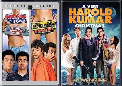 Harold And Kumar Christmas.Amazon Com Holiday 3 Movie Comedy Set A Very Harold Kumar
