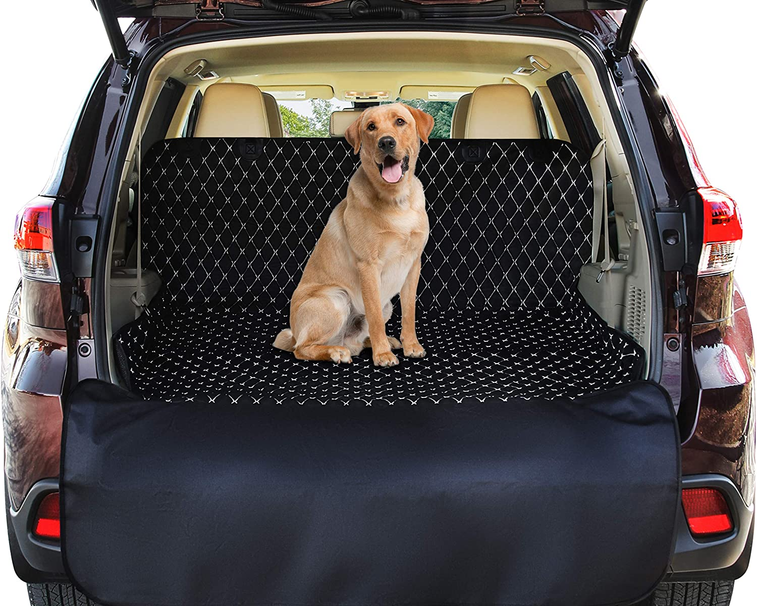 Pawple Pets SUV Cargo Liner Cover for SUVs and Cars, Waterproof Material, Non Slip Backing, Extra Bumper Flap Protector, Large Size – Universal Fit