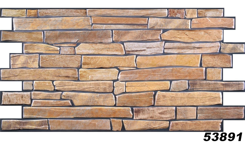 1piastre di PVC decorazione pietra parete Rivestimento murale da parete 98x 49cm, 53891 Regul