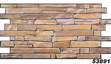1 PVC Dekorplatte Steindekor Wandverkleidung Platten Wand 98x49cm, 53891