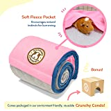 GuineaDad Fleece Liner 2.0 | Guinea Pig Fleece Cage Liners | Guinea Pig Bedding | Burrowing Pocket Sleeve | Absorbent Antibacterial Bamboo | Waterproof | Available Various Cage