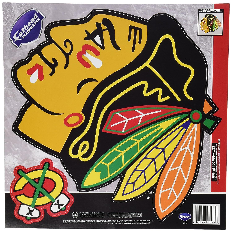 Amazon.com : NHL Chicago Blackhawks Fathead Wall Set, 12 x 11-inches ...