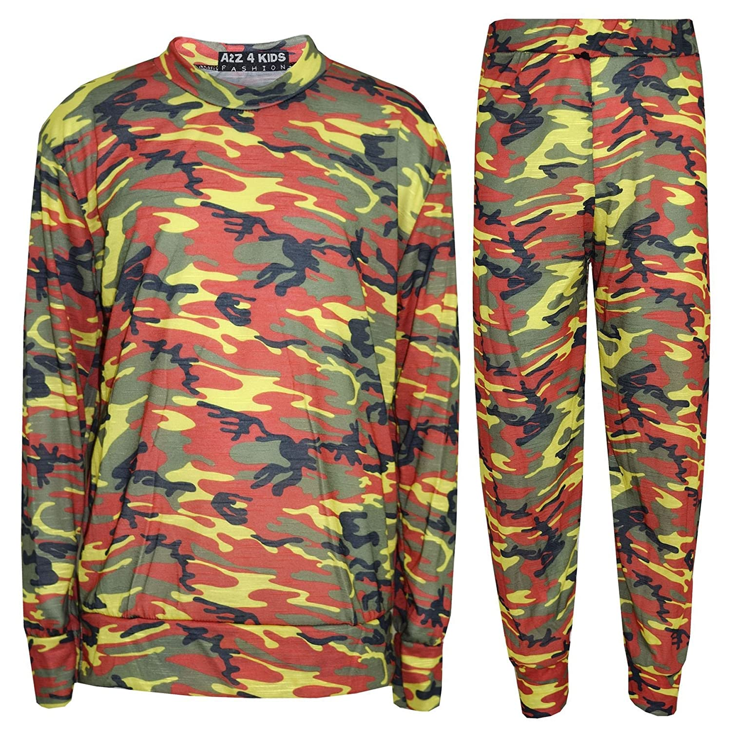 A2Z 4 Kids® Kids Jogging Suit Girls Camouflage Lounge Suit Tracksuit Hoddie Bottom 2-13 Years