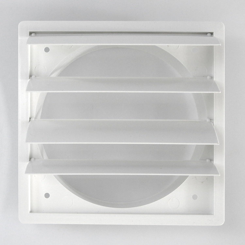 Klimapartner VKP 125 Rejilla de Ventilaci/ón Aire Externo del Louvre L/áminas Pl/ástico