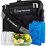 Insulated Lunch Box For Men - Meal Prep Lunch Bag Women / Men. Small Cooler Bag Includes 3 Lunch Containers and Ice Packs. Ad