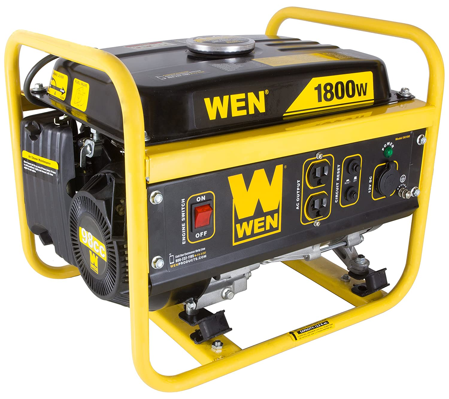 Amazon WEN 1800 Watt Portable Power Generator CARB