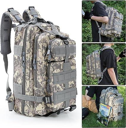 30L Militär D-Ringe Outdoor Rucksäcke Rucksack Camping Wandern Trekking Tasche