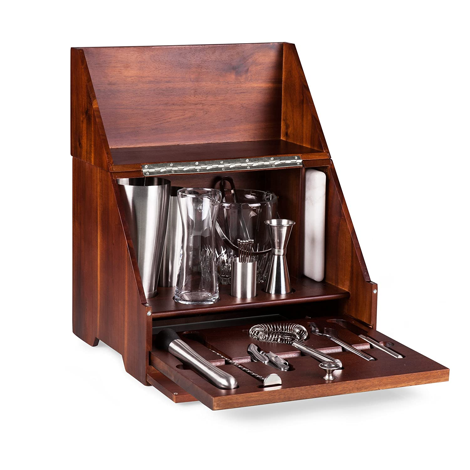 Amazon.com | Picnic Time Madison Tabletop Cocktail Set: Bar Tools U0026 Glasses