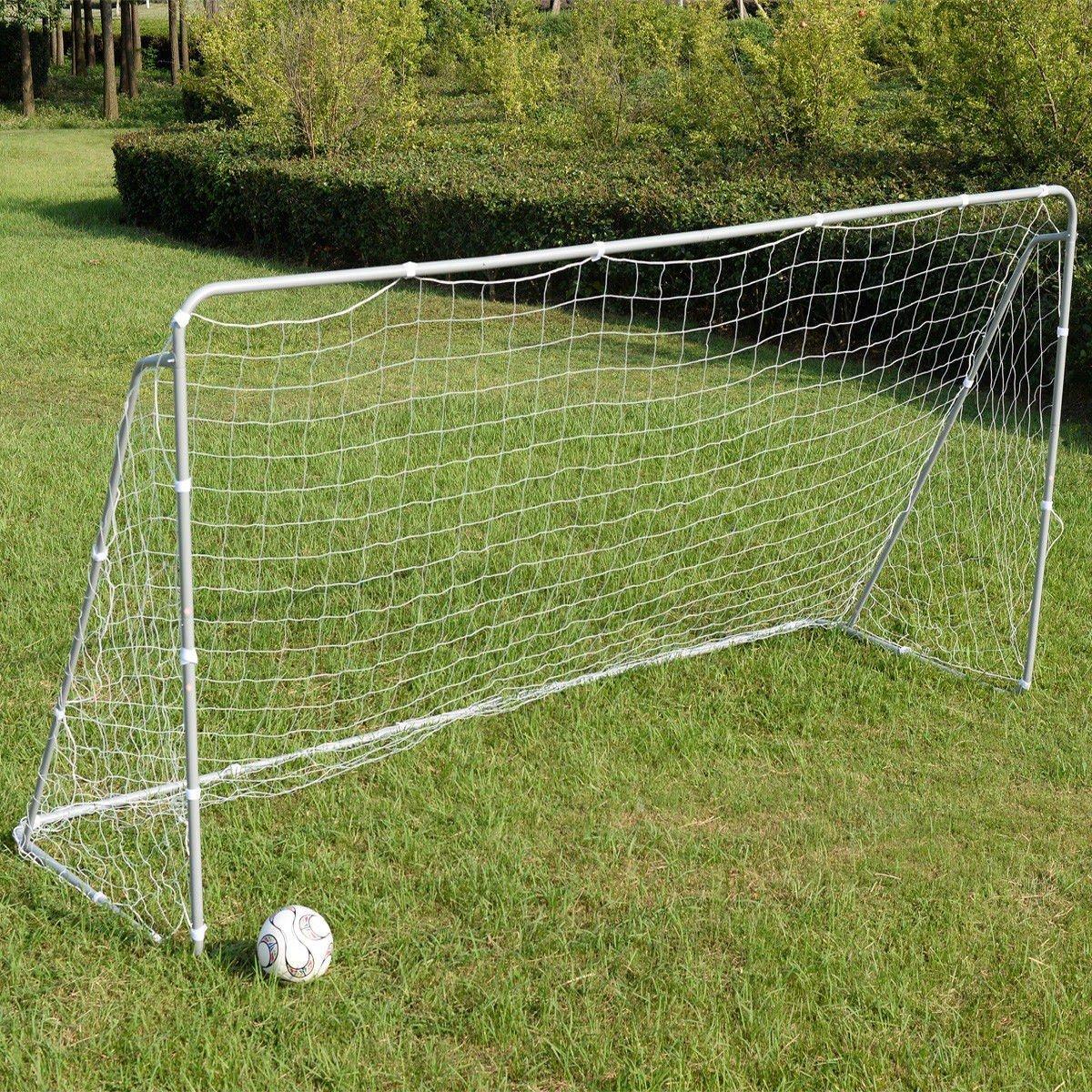 Soccer goal 12 ' x 6 ' Football W / Netベルクロストラップ、アンカーボールトレーニングセット B076XPMFKV