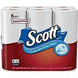 Scott Paper Towels Choose-A-Sheet, White, 6 Regular Rolls
