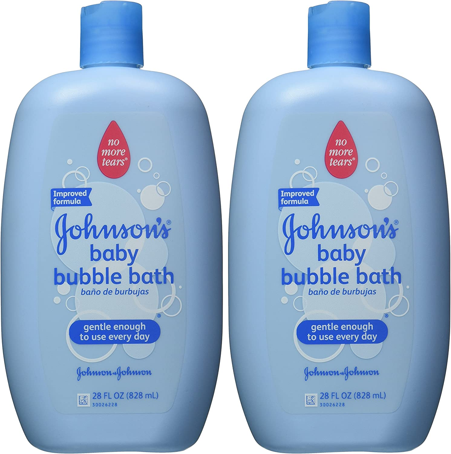 Amazon.com: Johnson\'s Baby Bubble Bath & Wash, Gentle Cleanser, 28 ...