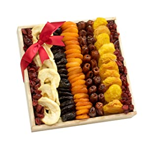 Broadway Basketeers Collection Dried Fruit Gift Tray - A Healthy Gift Idea
