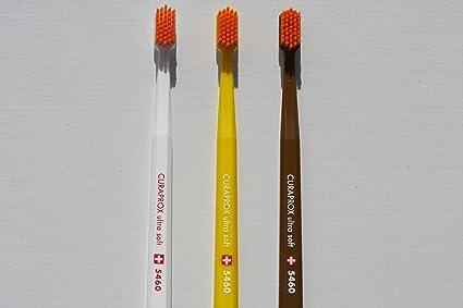 Tacto suave y cepillo de dientes especial para, juego de cepillos para 3, Curaprox