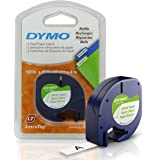 "Dymo Letratag Refill Tape, 1/2"" x 13'-Black-2 ct"