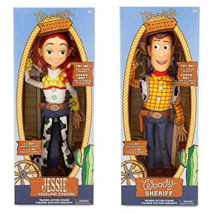 513250d029 Amazon.com  Disney Store Exclusive Toy Story 3 Talking Woody and Jessie  Dolls 16