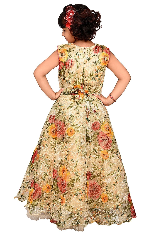 1de0a6d78 Roop Trading Co Net Fabric Women Girls Party wear Gown in Lemon Size ...