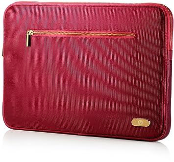 HP 14.1 Ultrabook Sleeve - Funda para ordenador portátil, rojo: Amazon.es: Informática