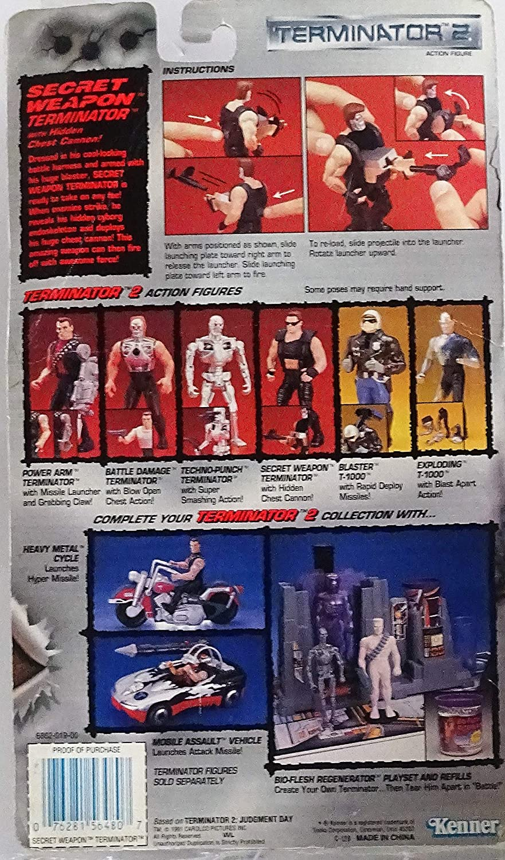 Terminator 2 Secret Weapon Terminator with Hidden Chest Cannon Action Figure