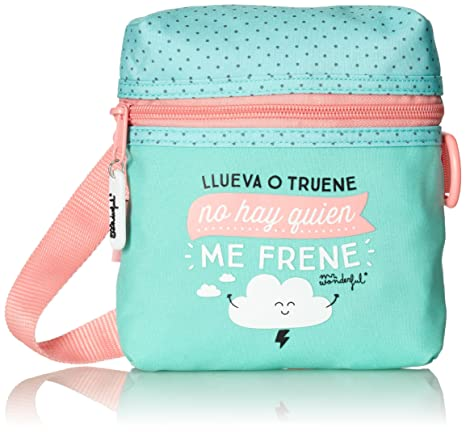 Safta 048363 Mr. Wonderful Bolso Bandolera, Color Verde