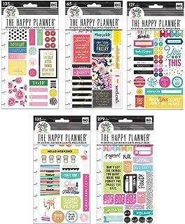 amazon 作成365 the happy planner 学生edition値パック1016ステッカー