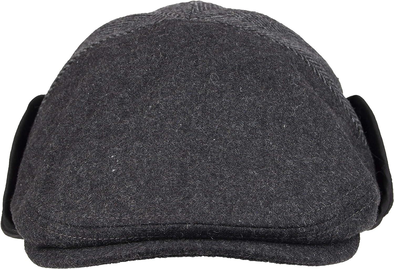 Ash Small//Medium Dockers Mens Ivy Newsboy Hat