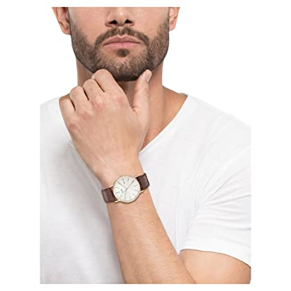 Bulova Men's Brown Leather Strap and White Dial Watch