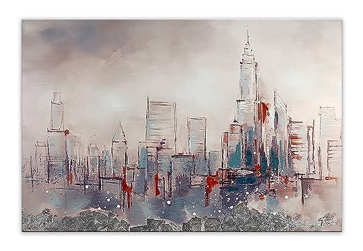 4 opinioni per Arte dal Mondo Profilo di Città Dipinti su Telaio Estetico, Acrilico,